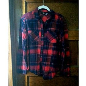 Red Plaid BDG flannel